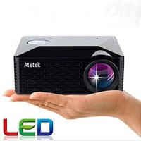 Aketek Multimedia USB AV HDMI VGA Home Theater LED Digital Video Game Pico Mini Support Hd 1080p Projector(Black)