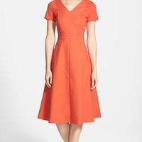 Women's Lafayette 148 New York 'Manon' Fit & Flare Midi Dress