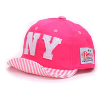 Headware cotton Baby hat Boys Baseball Caps Kids Embroidery Letters NY caps Children Sun hat toddler Girl hat babies infant Hats