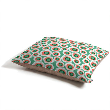 Raven Jumpo Ikat Circles Mint Pet Bed