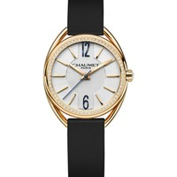 CHAUMET - W2301102A Liens 18ct yellow-gold, diamond and leather watch   Selfridges.com