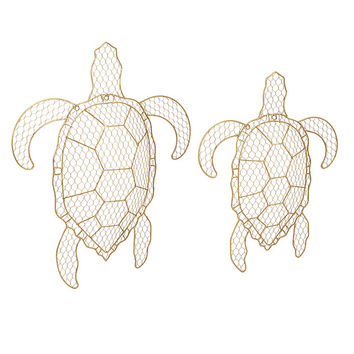 Tortuga Wire Turtle Wall Decor - Set of 2