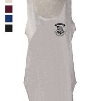 Hogwarts House print tank top shirt wizard vest singlet harry potter fan art | eBay
