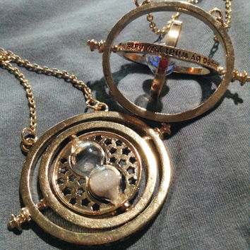 Time Turner Necklace Gold necklace from Harry Potter Great for cosplay casual wear birthday gifts fans of Hermione choice of color