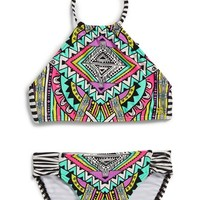 Girl's Billabong 'Stellar' Two-Piece Swimsuit