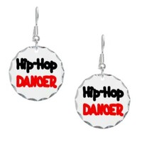 Hip-Hop Dancer Earring Circle Charm