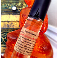 Abundance Law of Attraction Perfume Oil Crystal Infused Programmed to Enhance energy of magnetism, graciously. ORGANIC New Age ~Roll-On Oil