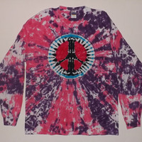 Tie Dye Peace Sign Long Sleeve T-Shirt - Choose Any Size & Colors
