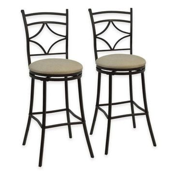 Rahway Adjustable Barstools in Bronze (Set of 2)
