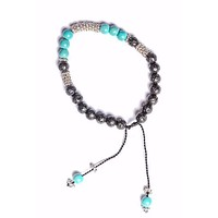 Lava Rock Bracelet with Turquoise Stone