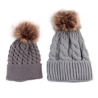 Matching Pompon Beanies