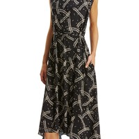 PRINTED BUTTONED BACK DRESS - New Arrivals | SCANLAN THEODORE