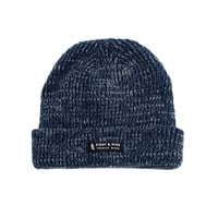 Ribbed Dock Beanie Navy Marled