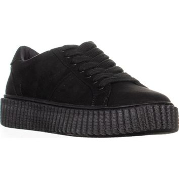 Indigo Rd. Cray Lace Up Platform Sneakers, Black, 8.5 US