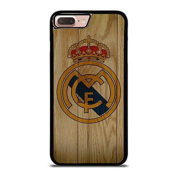 REAL MADRID FC WOODEN iPhone 8 Plus Case Cover