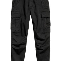 Cotton Twill Cargo Joggers - from H&M