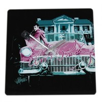 "Elvis Presley ""Pink Cadillac"" Ceramic Square Clock Your favorite online gift shop!"