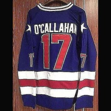 Jack O'Callahan #17 1980 Team USA Olympic Hockey Jerseys -Miracle On Ice