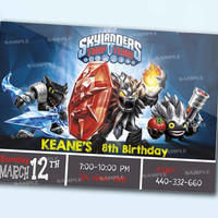 Skylanders Trap Team the beautiful personalized card as a digital file