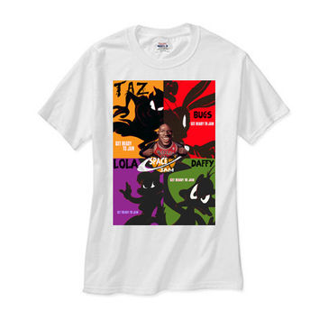 Space Jam Elite 4 white tee