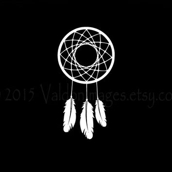 Dream catcher silhouette car decal car sticker laptop decal b