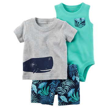 Carter's 3-pc. Short Set Baby Boys - JCPenney