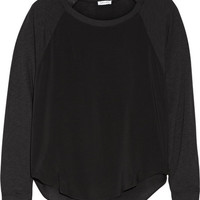 Splendid - Supima cotton and Micro Modal-blend paneled voile top
