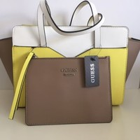 NWT Guess Kamali Citron Color Block Designer Purse
