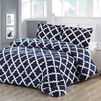 Utopia Bedding Printed Twin Goose Down Alternative Comforter Set with 2 Pillow Shams