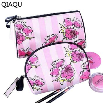 QIAQU Hot Cosmetic Bags High Quality Makeup Bags Travel Organizer Necessary Beauty Case Toiletry Bag Make up Box for Beautician
