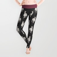 LLAMA - IF I WAS IN L.A. Leggings by Je Suis Un Lapin