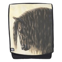 Black Friesian Draft Horse Backpack