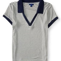 Striped Throwback Jersey Polo - Aeropostale