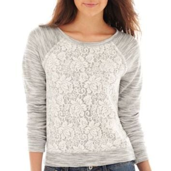 Arizona Lace-Front Sweatshirt