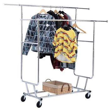Silver Commercial Grade Collapsible Clothes Rack