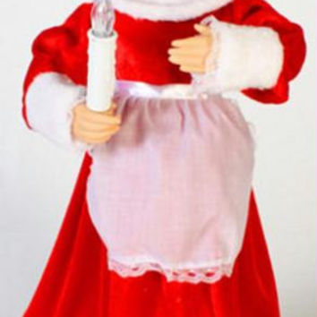 Mrs. Claus Christmas Figure - Arms And Head Move
