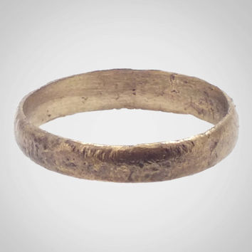 Authentic Ancient Viking Wedding Band Jewelry C.866-1067A.D. Size 11 1/2  (21mm)(Brr520)