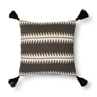 "Braided Throw Pillow (18"") - Black - Threshold™"