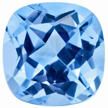 Loose Blue Topaz Gemstone  6mm Sq Cush AA Quality