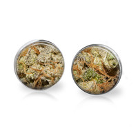 BLUE CHEESE Cannabis Strain Marijuana Strain Weed Earrings Marijuana Earrings 420 Gift Pot Leaf Jewelry Weed Jewelry MMJ Medical Marijuana