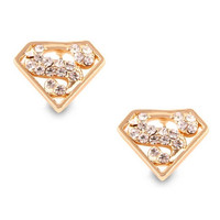 Golden Superman Metal Earrings = 1945863876