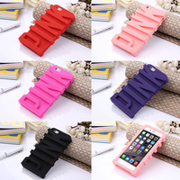 Fashion Victoria/'s Secret 3D PINK Letter Soft Silicone Rubber Case for Apple iPhone 5 & 6