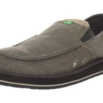 ONETOW Sanuk Pick Pocket Brown Sidewalk Surfer Shoes