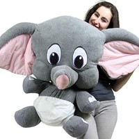 Giant Stuffed Elephant 36 Inches Extremely Soft and Oh So Adorable