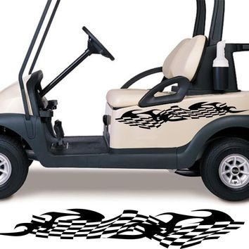 Golf Cart Go Kart Decals Side By Side Stickers Graphics Tribal Flames Stripes GG20