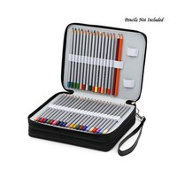 Art Supplies 124 Holders 4 Layer PU Leather School pencils Case Large