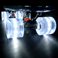 White Sunset Flare LED Glow In The Dark Light Up Skateboard Wheels