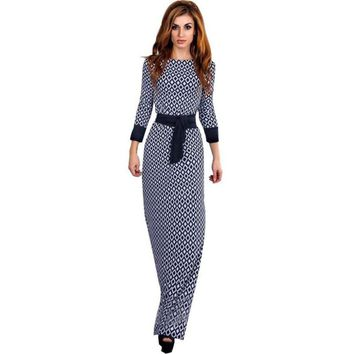 Women Elegant Long Sleeve Dress