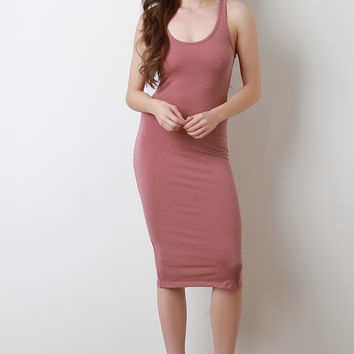 Racerback Jersey Knit Midi Dress | UrbanOG