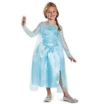 Disguise Disney's Frozen Elsa Snow Queen Gown Classic Girls Costume, Small/4-6x